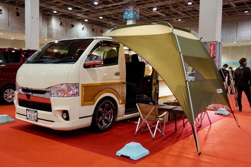 ogawa キャンパル カーサイドタープAL  車両:CRSウッディエース