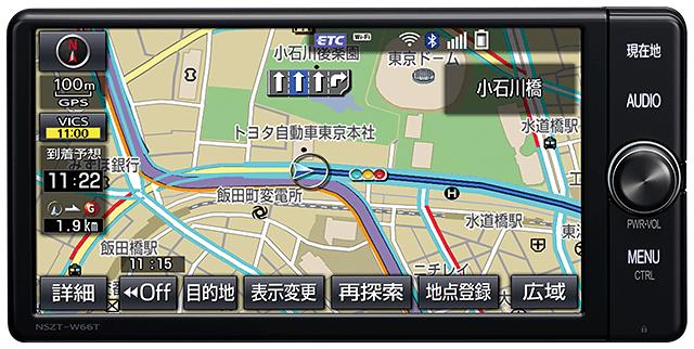 トヨタ純正のT-Connectナビ