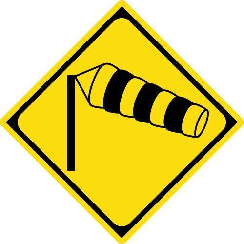 横風注意 標識