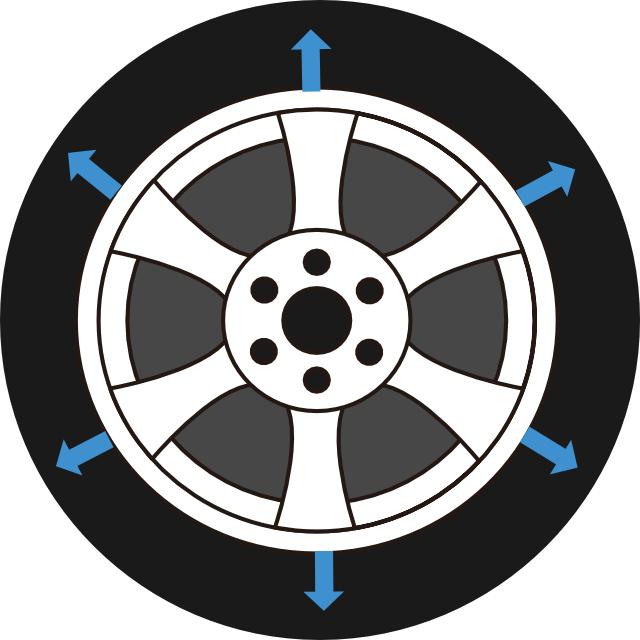 タイヤのインチアップ
