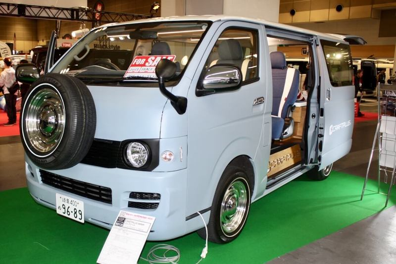 クラフトプラスのデニムハイエース 大阪オートメッセ2018