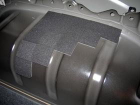 ハイエース200系 フェリソニ防音材 リアタイヤハウス