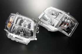 3型仕様クリスタルヘッドライト(クローム) ハイエース200系変換用(1・2型)