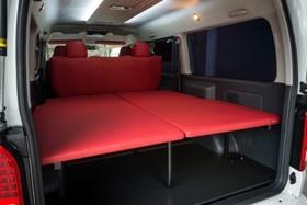 グラファム ベッドKit ver.1 S-GL 5人乗り用(レッド or ブラック) 1・2・3・4型ハイエース200系ワイド