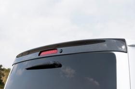 リアルーフスポイラー(ハイマウント対応・カーボン製) 1・2・3・4型・ハイエース200系ノーマルボディ