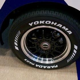 OGUSHOWカスタムの日産キャラバントランスポーター。 オートサロン2016年出展車輌。 YOKOHAMAタイヤ PARADA PA03 ホワイトレターがアクティブさを出しています。