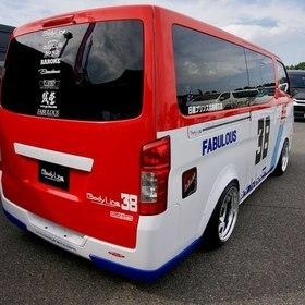 Body LineカスタムNV350キャラバン  日産 キャラバン  トリコロールカラー  スーパーカーニバル2016出展車両