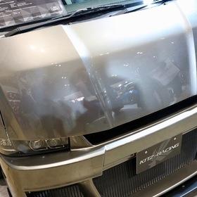 KUHL(クール)&KITZ(キッツ)のカスタムハイエースHIACE BADLOOK  KUHLRACING新作オリジナルエアロキット  バッドルックボンネット ロングノーズフェイス  東京オートサロン2017出展車両