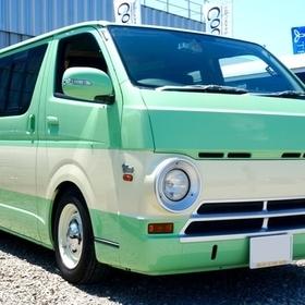 ハイエース200系カスタム Dodge A100ルックス Blow パパライダーフェイスキット http://www.blow-net.co.jp/products-cars/papa-rider