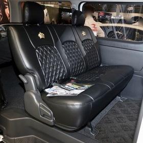 FLEDERMAUS(フレーダーマウス)カスタムハイエース  車両名:ハイエース REGINA Altair  ベース車両:TOYOTA | ハイエース  シート:ラグジュアリーシートカバー 東京オートサロン2017出展車両