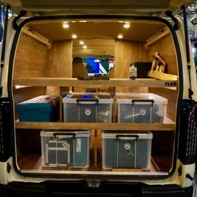 FLEXカスタムハイエース  FLEX CUSTOM HIACE 八王子リホーム  ベース車両:TOYOTA | ハイエース 標準ボディ DX  内装:オーダーメイド八王子リフォーム作業場仕様  東京オートサロン2017出展車両