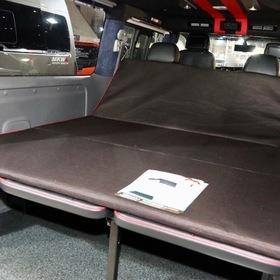 ARJ(350MOTORING) ベース車両:NISSAN | NV350キャラバン 内装:ベッドキット、車中泊快適マット 東京オートサロン2017出展車両