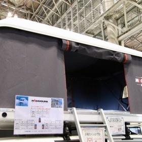 ZIFER JAPAN  ルーフテント:マジョリーナ エアランダー  ベース車両:ムーヴキャンバス  キャンピングカーショー2017出展車両  ルーフテントの元祖「マジョリーナ エアランダー」  さまざまな車に搭載可能。室内スペースに限りがある軽自動車にも