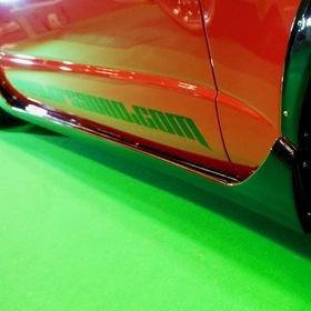 CRS ESSEX  CRS ESSEXの「レッドデモカー」  インパクトのあるカラーリングとスタイリッシュなエアロ・ホイール  大阪オートメッセ2017 出展車両