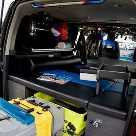 BLUME「釣りエース」 収納、車中泊キット スーパーカーニバル2016